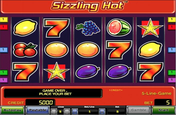 Sizzling Hot Slot Ca La Aparate